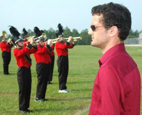 Band director Mike Warren during a recent practice at BCHS.