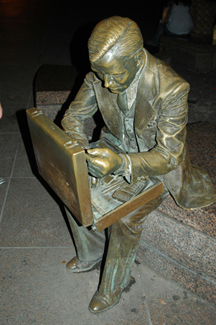 The surviving Double Check statue.