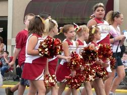 Cardinals youth cheerleaders.