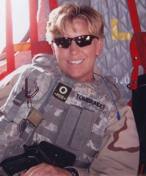 Navy Veteran Bobbi Croft while in Afghanistan in 2006.