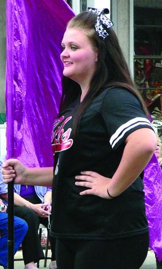Danielle Westberry, captain of the BCHS color guard.