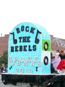 Tail end of the sophomore class float.