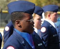 Darius Green, AFJROTC cadet.