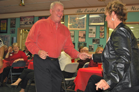 Danny Lamb gives Sharon Teague a whirl on the dance floor.