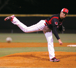 Dillon Jones pitching.