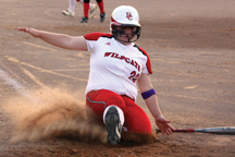 Shelby Gatto slides into home.