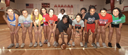 Pictured at a recent Powder Puff practice are Autumn Jackson, Tiffany Braddy, Elizabeth Renninger, Sarah Gibson, Logan Nevill Yasmine, Blue Tyrona Green, Tina Hauge, Jasmine Ruise, Rhondesia Clayton, Kallie Raulerson and Faith Finley.