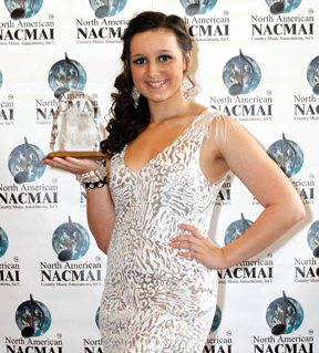 Maci McDuffie at the 2012 North American Country Music Association Awards in Tennessee on March 15.