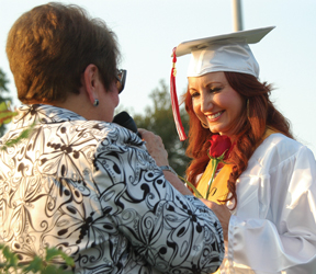 Lori Sullivan receives her diploma.