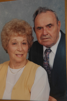 Portrait of Mabel and her husband of 65 years, the late Dallas Brazil.