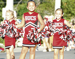 Bucs youth cheerleaders.