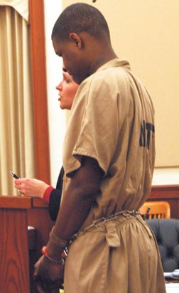 Michael Wayne Washginton, Jr. during his sentencing hearing.