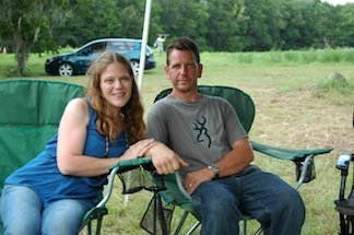 Farm owners Jennifer and Joe Asbury.