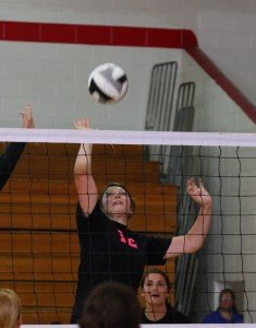 Callie Wheeler goes up for the ball.