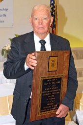 Jack Williams with his FFA Hall of Fame plaque.
