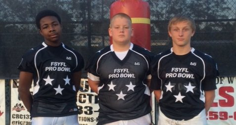 Trio picked for youth football league's 'pro bowl'