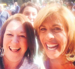 Stephanie Hardenbrook with Hoda Kotb.
