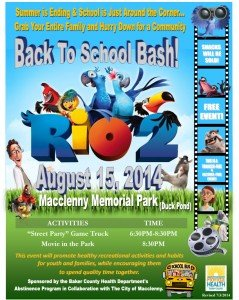 August Movie in the Park  2014 RIO 2 Final