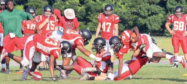 It's 'pads on' preparing for Bartram scrimmage