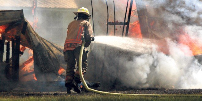 Saturday fire destroys shed in Glen