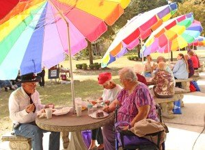 seniors enjoy complimentary lunches