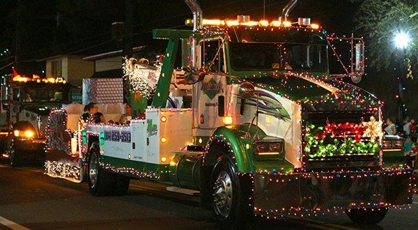 Miracle Towing best all-around entry in the Christmas parade