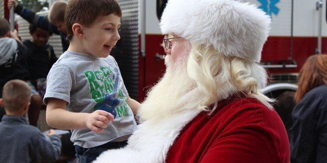 Santa visits ESE students at city's Heritage Park