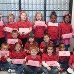 Preschoolers mail valentines