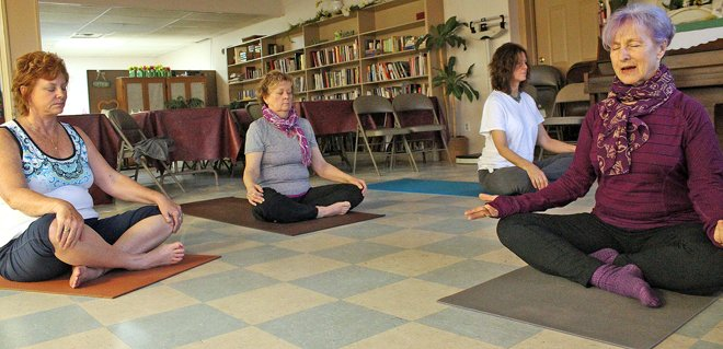 Yoga is a healthy 'stretch' at the CoA
