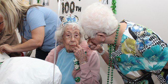 Hilda Johnson turns 100 years old on St. Patrick's Day!