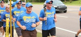 At the finish line: Special Olympcis Law Enforcement Torch Run