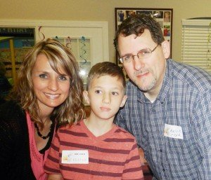 Melissa and Kevin Clark with their son Elijah.