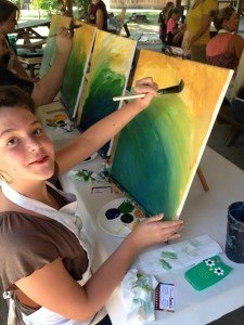 Jara Weeks at the last painting in the park event for kids.