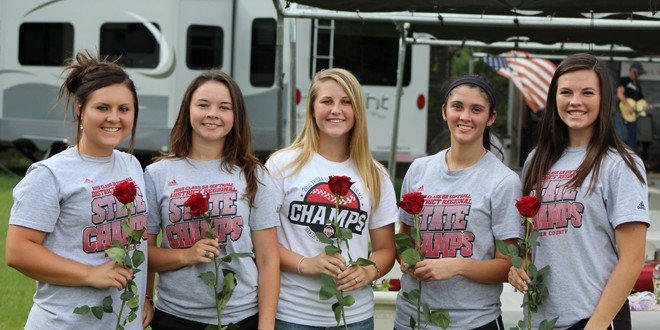 Softball state champs feted at cookout