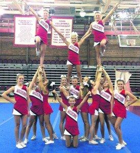 Cheer team at the FSU camp.