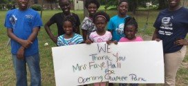 Olustee youths thank park owner for renewing lease