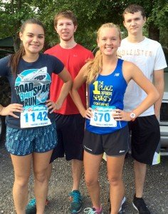 Pictured l-r: Mia Fish, Ty Hartley, Shea Robinson and Sheldon Griffis. Photo courtesy Pam Robinson.