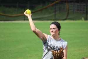 Madison Kennedy prepares to release the throw.