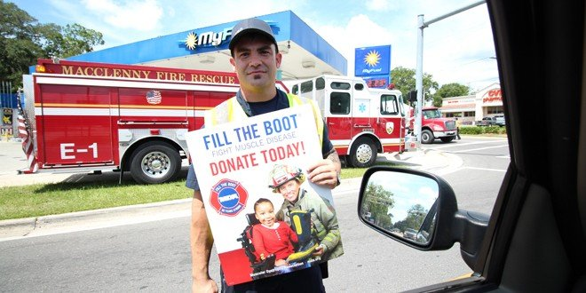 Firefighters 'fill the boot' for MDA, continues this weekend