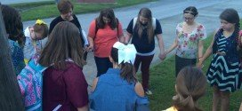 FCA club prays at BCMS flag pole