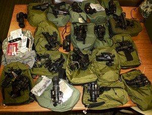 Stolen gear now in evidence.
