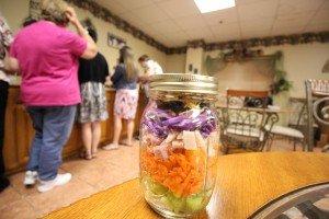One of the first salads made inside a mason jar.