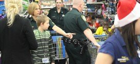 Christmas shopping with police, BCI staff